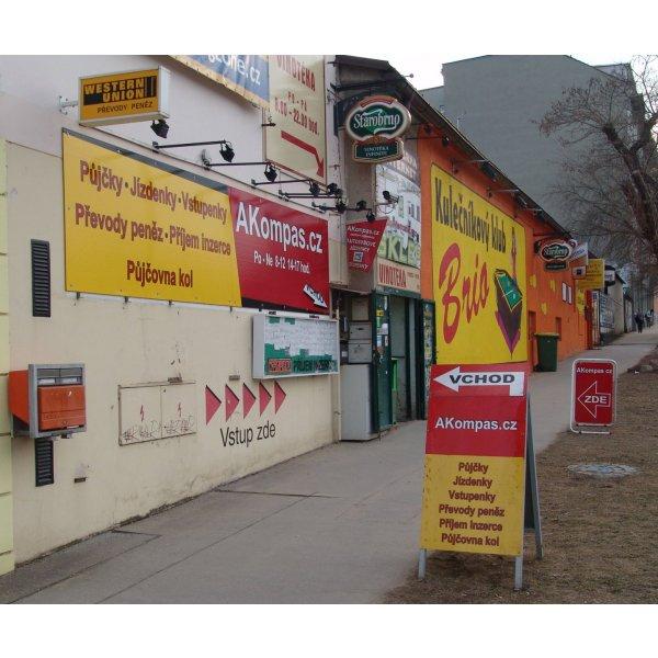 AKompas Brno rychlá půjčka úvěr pro podnikatele živnostníky bez.